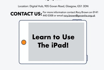 iPad Workshop Poster